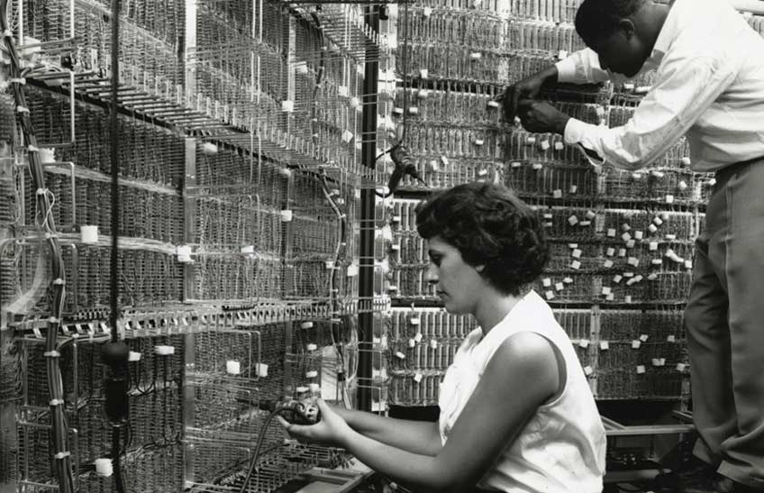 Montefiore installed its electronic data system in October 1963